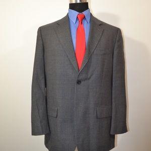 Pronto Uomo 42R Sport Coat Blazer Suit Jacket Gray